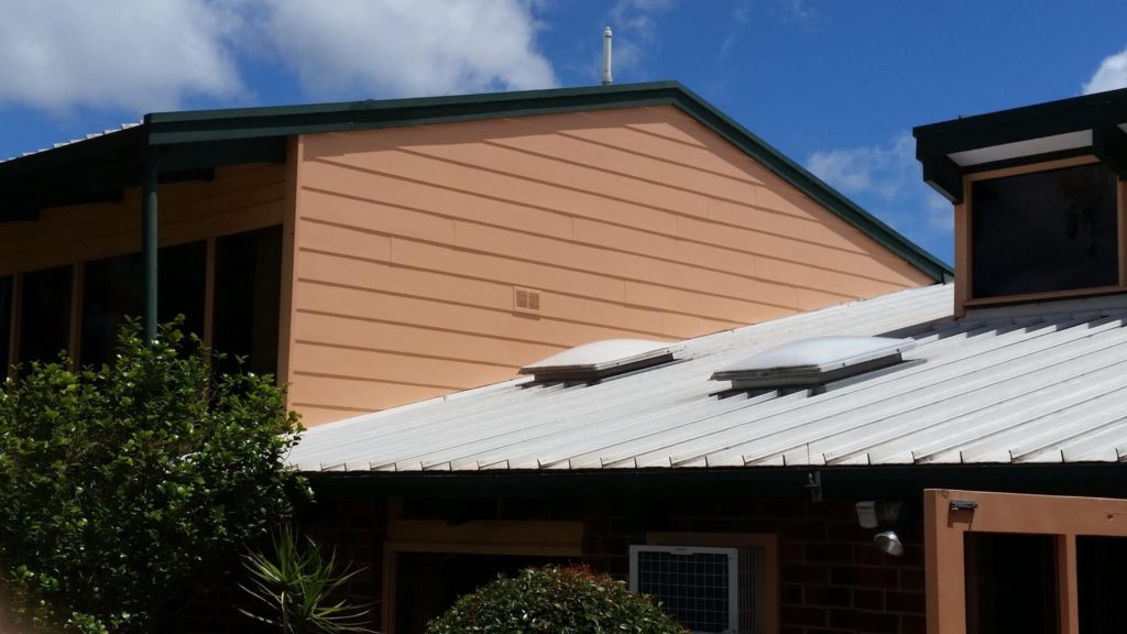newly installed and painted weatherboards